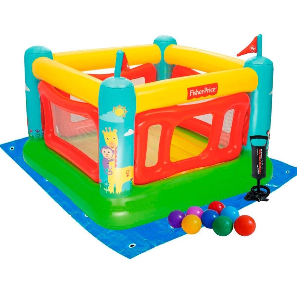 Надувной игровой центр Bestway 175х173х135 см, с шариками 10 шт, подстилкой, насосом