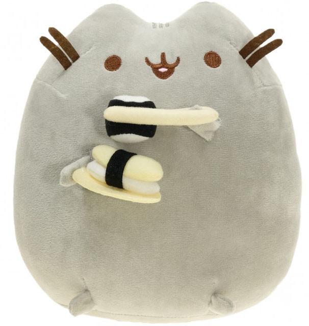 Мягкая игрушка кот с роллом Pusheen cat Серый (n-645)