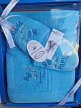 Набор Для Сауны и Бани Подарочный Женский В Коробке Хлопковый На Липучке Турция Gulcan, фото 7