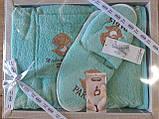 Набор Для Сауны и Бани Подарочный Женский В Коробке Хлопковый На Липучке Турция Gulcan, фото 9