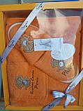 Набор Для Сауны и Бани Подарочный Женский В Коробке Хлопковый На Липучке Турция Gulcan, фото 10
