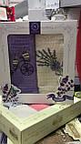 Набор кухонных полотенец Nilteks вафельные в подарочной коробке 40*60 2 шт с вышивкой Лаванда., фото 2