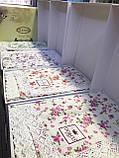 Вафельная летняя простынь, плед, пике с кружевом, накидка евро размер DO&CO 220*240 см Flower, фото 7