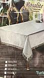 Скатерть Тканевая Однотонная Полиэстер 160х220см, фото 5