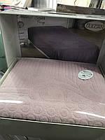 Махровая Простынь Покрывало Размер 200*220 см Жаккардовая Евро Пудра Турция Gulcan