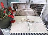 Покрывало  Жаккардовое Гобеленовое С Шелковой Вышивкой Турция Евро Размер C Наволочками Alara, фото 4