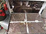 Покрывало  Жаккардовое Гобеленовое С Шелковой Вышивкой Турция Евро Размер C Наволочками Alara, фото 5