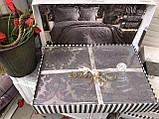 Покрывало  Жаккардовое Гобеленовое С Шелковой Вышивкой Турция Евро Размер C Наволочками Alara, фото 7