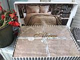 Покрывало  Жаккардовое Гобеленовое С Шелковой Вышивкой Турция Евро Размер C Наволочками Alara, фото 8