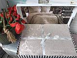 Покрывало  Жаккардовое Гобеленовое С Шелковой Вышивкой Турция Евро Размер C Наволочками Alara, фото 10