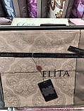 Постельное Белье Сатин Люкс Двуспальное Евро 200*220 см Elita Турция, фото 6