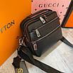 Мужская кожаная сумка через плечо H.T leather, фото 4