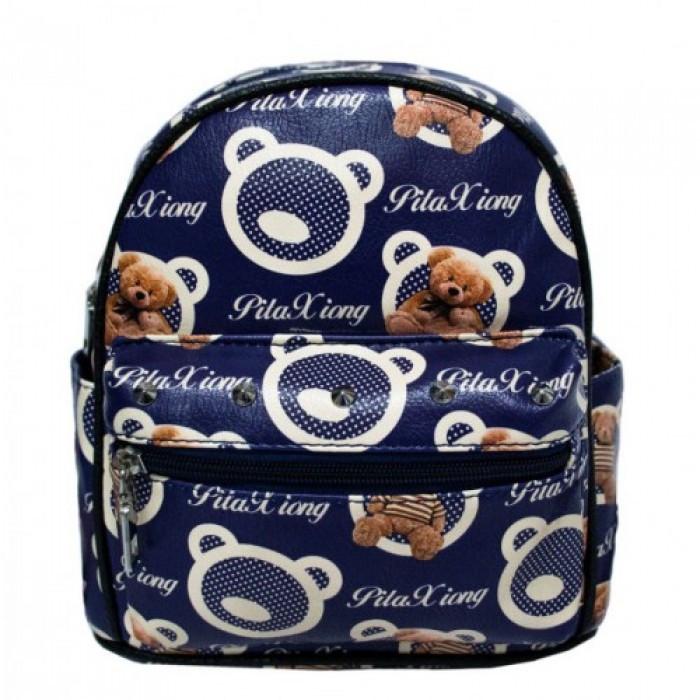 Рюкзак с рисунком Мишка 47250 Размер 30x25x12 Синий