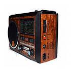"""Портативный радио приемник """"GOLON"""" RX-277LSD USB FM Коричневый с солнечной панелью, фото 2"""