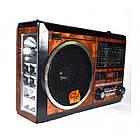 """Портативный радио приемник """"GOLON"""" RX-277LSD USB FM Коричневый с солнечной панелью, фото 3"""