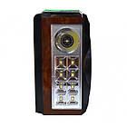"""Портативный радио приемник """"GOLON"""" RX-277LSD USB FM Коричневый с солнечной панелью, фото 4"""