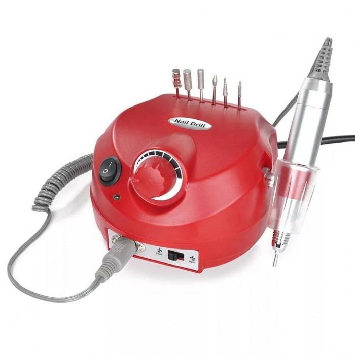 Фрезер для маникюра и педикюра Nail Drill DM-202 35000 оборотов 30 Вт Красный