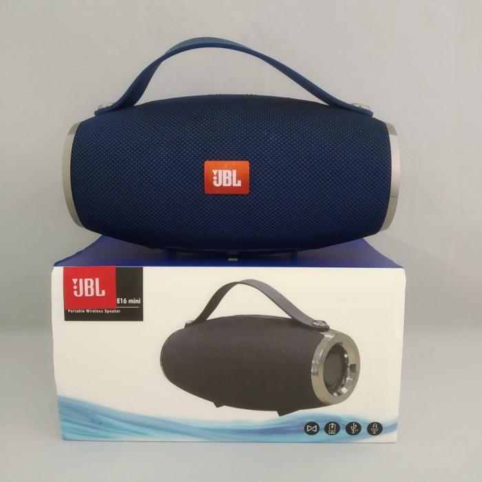 Портативная bluetooth колонка спикер JBL E16 mini FM, MP3, радио Синий