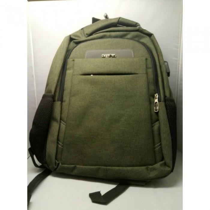 Городской рюкзак мужской ZXJ-2615 сумка 47x32x13 тёмно зелёный