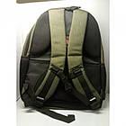 Городской рюкзак мужской ZXJ-2615 сумка 47x32x13 тёмно зелёный, фото 2