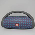Портативная bluetooth колонка влагостойкая JBL Boombox B9 mini FM, MP3, радио Серая с треугольниками, фото 2
