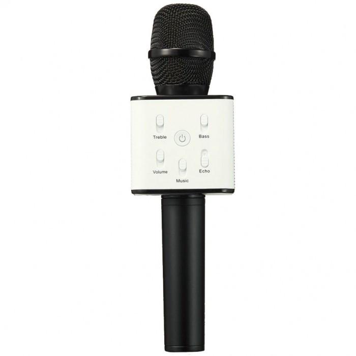 Беспроводной микрофон караоке блютуз Q7 Bluetooth динамик USB ЧЁРНЫЙ В ЧЕХЛЕ