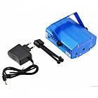 Лазерный проектор, стробоскоп, диско лазер UKC SF-6Q 6 в 1 c триногой Синий, фото 6