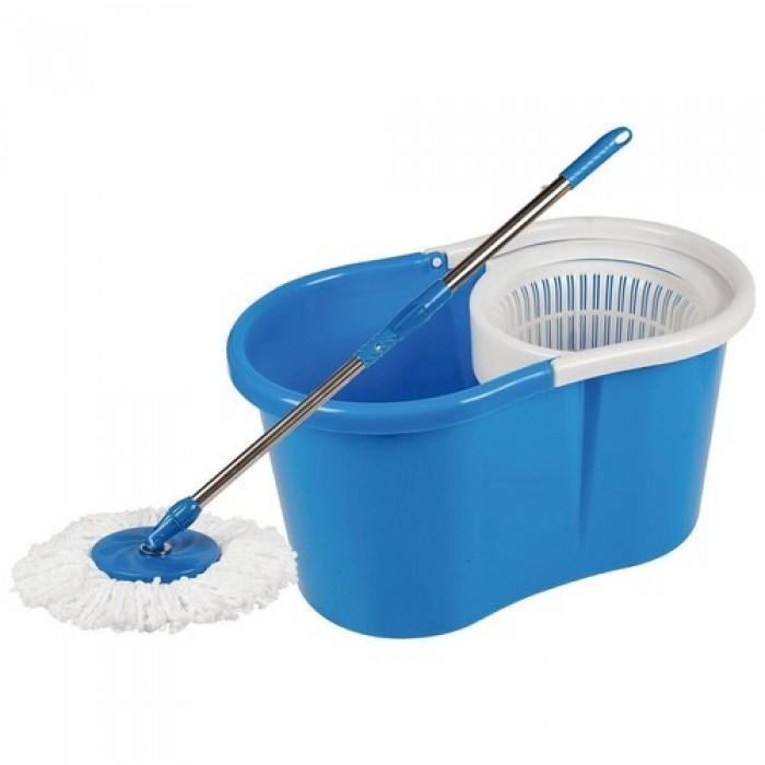Комплект для уборки Spin MOP 360 Турбо Швабра с Ведром Синий