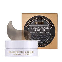 Гидрогелевые патчи Petitfee Black Pearl and Gold Hydrogel Eye Patch