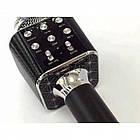 Беспроводной микрофон караоке блютуз WS-1688 Bluetooth динамик USB Чёрный, фото 2