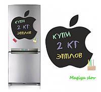 """Магнитная доска на холодильник """"Apple"""" - набор в подарочном тубусе"""