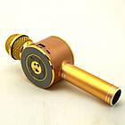 Беспроводной микрофон караоке блютуз WSTER WS-668 Bluetooth динамик USB Золотой, фото 6