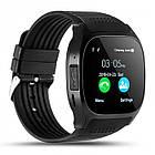 Сенсорные Smart Watch T8 смарт часы умные часы Чёрные, фото 3