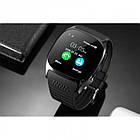 Сенсорные Smart Watch T8 смарт часы умные часы Чёрные, фото 7