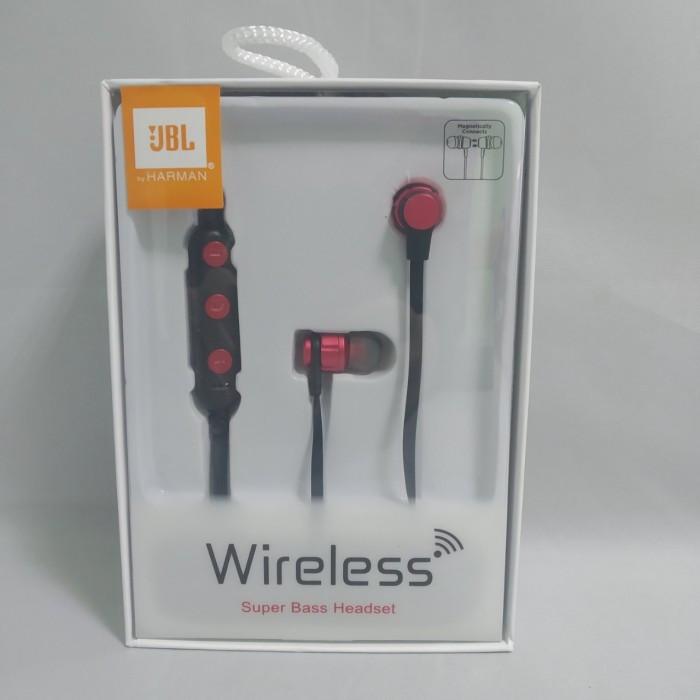 Беспроводные вакуумные Bluetooth JBL B009 SPORT магнит Чёрные с красным