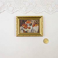 "1:12 Миниатюра картина ""Натюрморт"", 6.2*8 см"