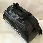 Спортивная фитнес-сумка найк, Balenciaga для тренировок. Черная. Кожзам, фото 9