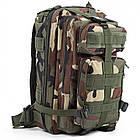 Тактический, походный рюкзак Military. 25 L. Камуфляжный, пиксель, милитари.  / T414, фото 2