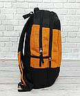 Рюкзак Wiste желтый с черным. Городской, школьный., фото 3