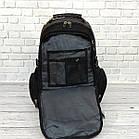 Вместительный рюкзак с жесткой спинкой. Черный с серым. + Дождевик. 35L / s7650 grey, фото 7