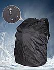 Вместительный рюкзак с жесткой спинкой. Черный с серым. + Дождевик. 35L / s7650 grey, фото 10