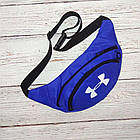 Поясная сумка, Бананка, барсетка андер армор, Under Armour. Синяя, фото 2