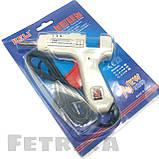 Пистолет клеевой электрический белый HELI с кнопкой (для клеевых стержней D7 мм), фото 3