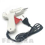 Пистолет клеевой электрический белый HELI с кнопкой (для клеевых стержней D7 мм), фото 2