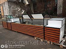 Витрина-куб холодильная линии под заказ. Реставрация ваших витрин.