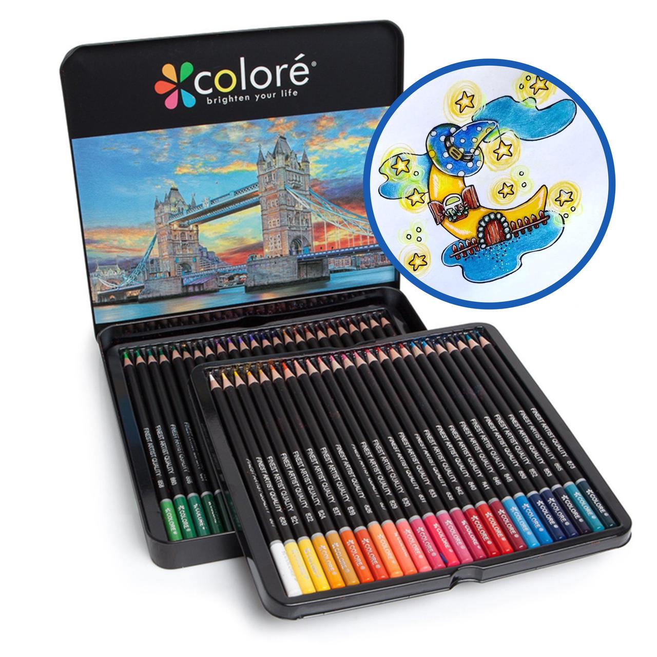 Цветные карандаши для рисования в железной коробке 72 шт 120 48, Цветные карандаши для рисования в железной