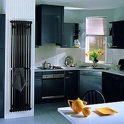 Радіатор водяного опалення Zehnder Charleston 460 x 1792, Traffik black арт.2180-10-9217-3470-SMB