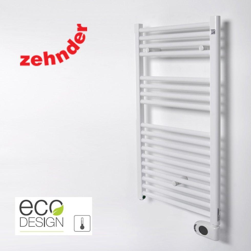 Полотенцесушитель електричний Zehnder Aura 500 x 906, білий з програмованим теном