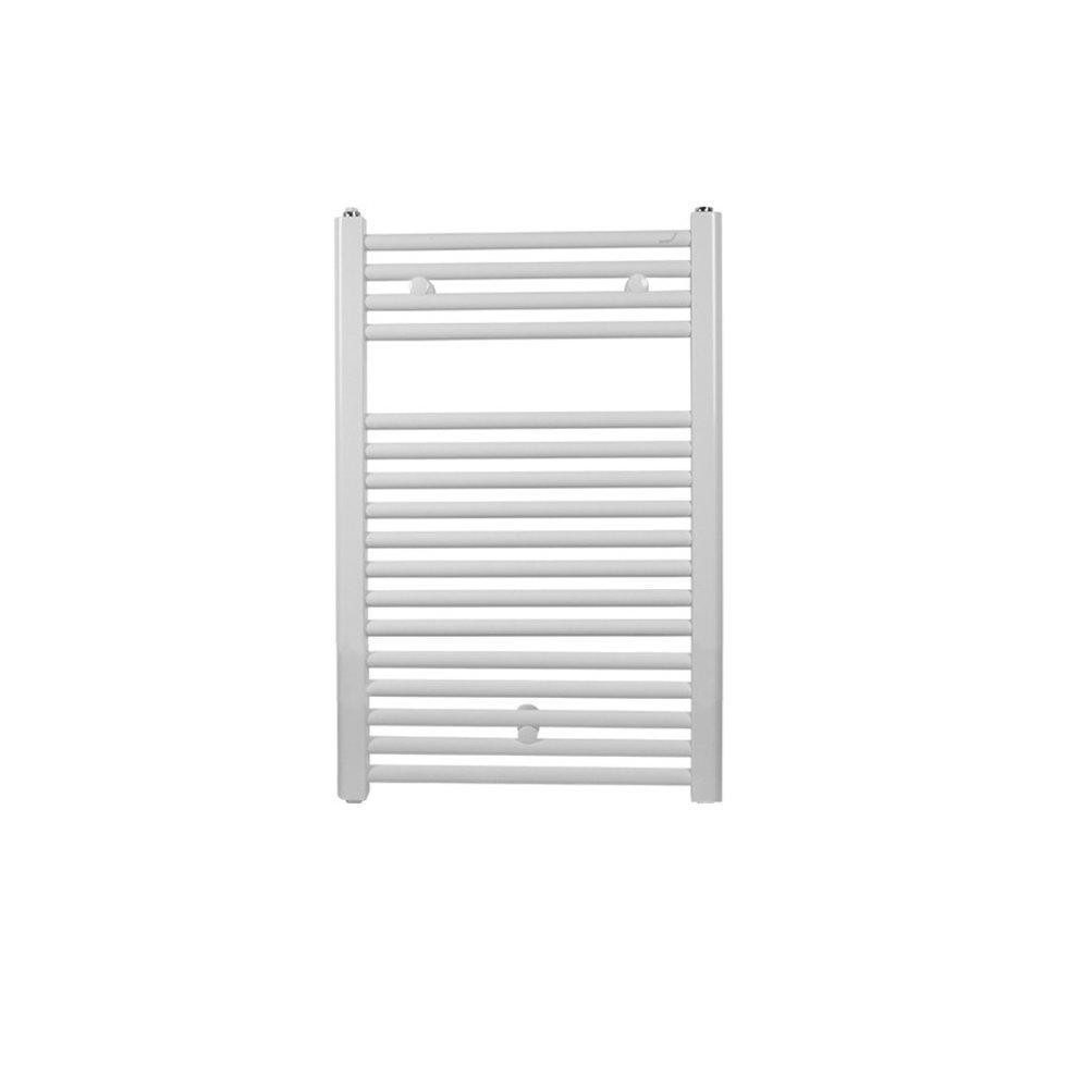 Полотенцесушитель белый водяной Zehnder Virando для закрытых систем отопления 786 x 500 мм. Цвет белый