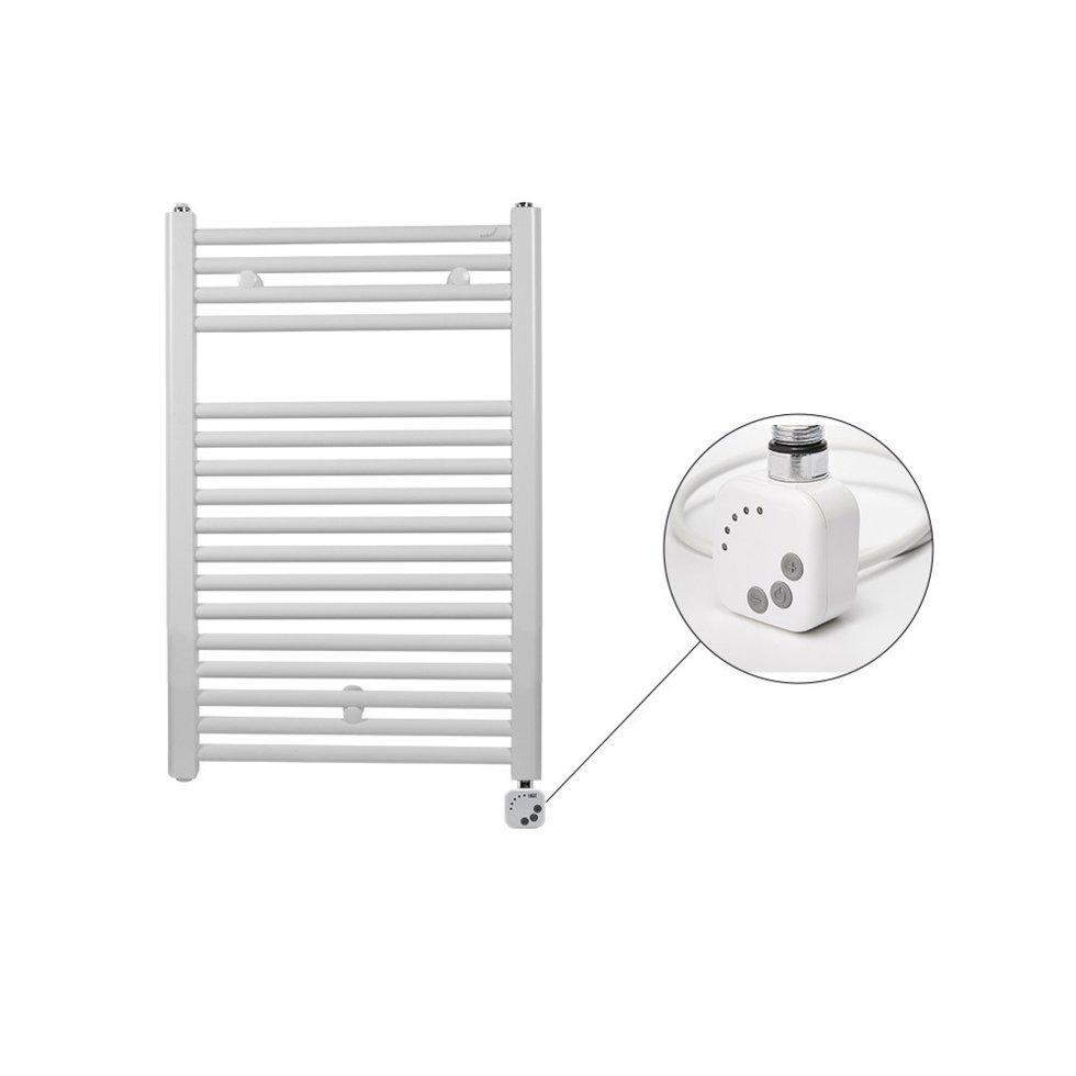 Полотенцесушитель электрический Zehnder Virando с  программируемым нагревателем HEС   786 x 500 мм белый